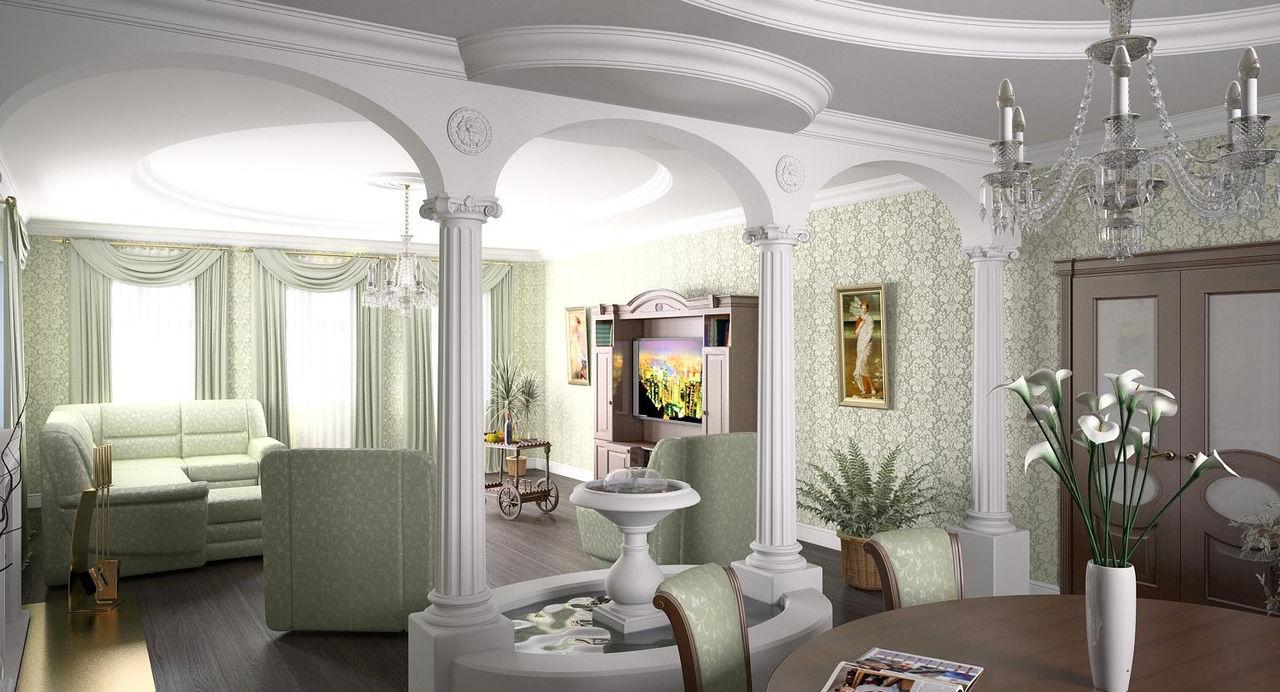 Декоративные колонны в интерьере