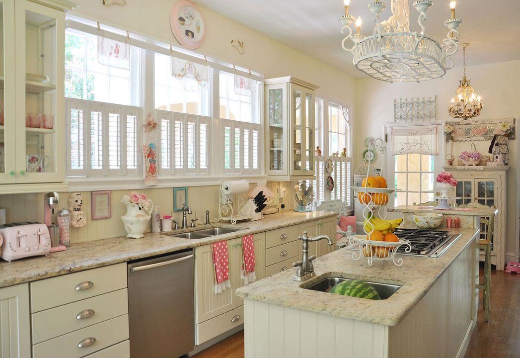 Шебби шик в интерьере кухни