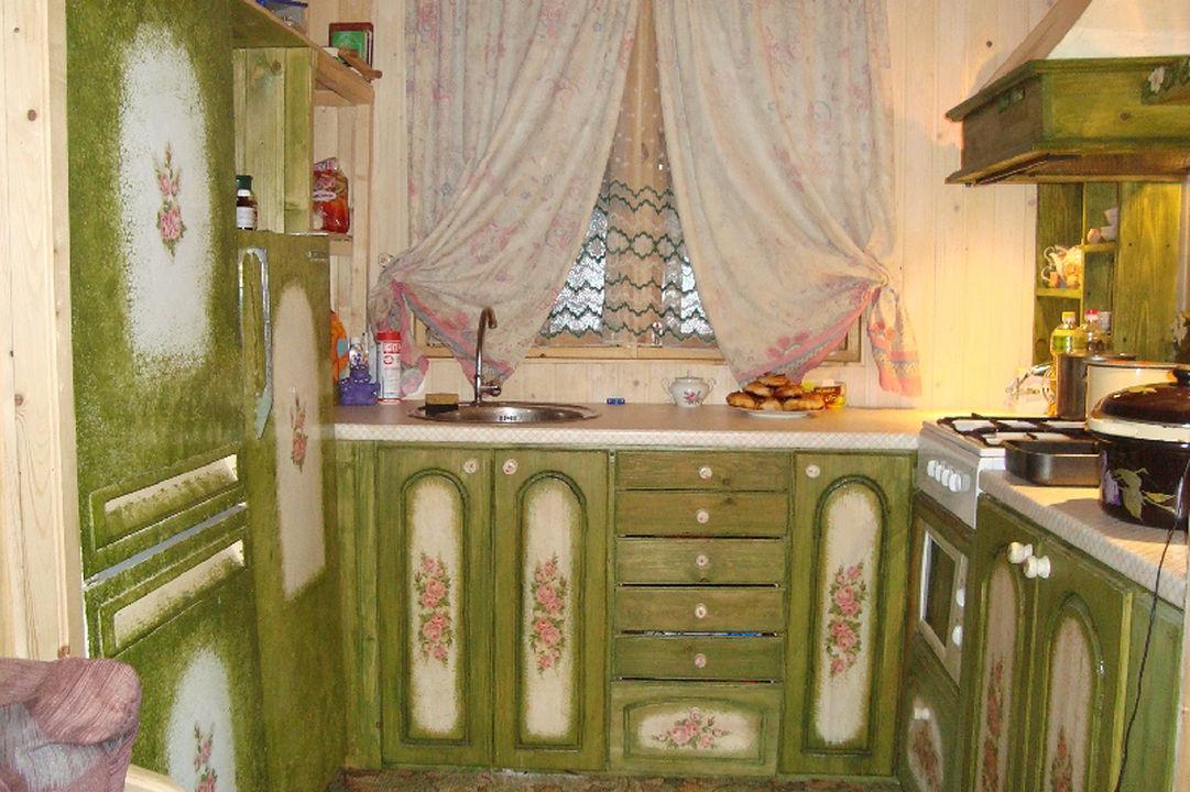Как из старой кухни сделать поновей фото