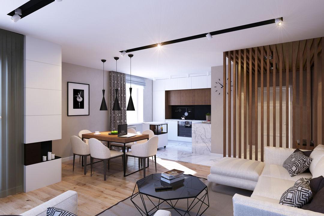 Стильные дизайны однокомнатных квартир
