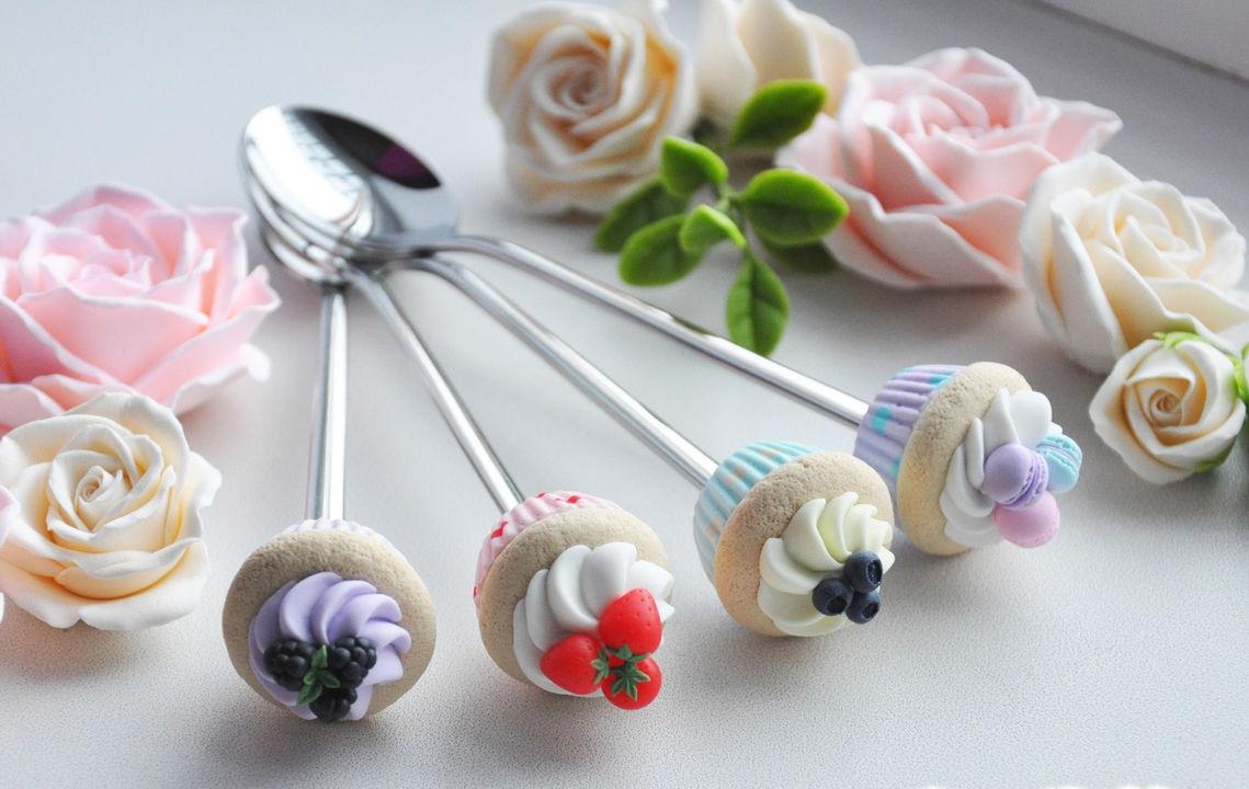 Вкусные ложки из полимерной глины как сделать